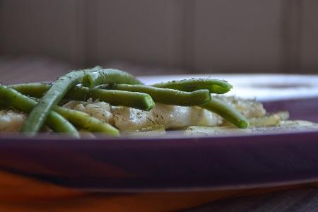 Recette de poisson : le Colin  sur lit de pommes de terre