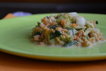 poireau et crevettes pour un plat léger et complet