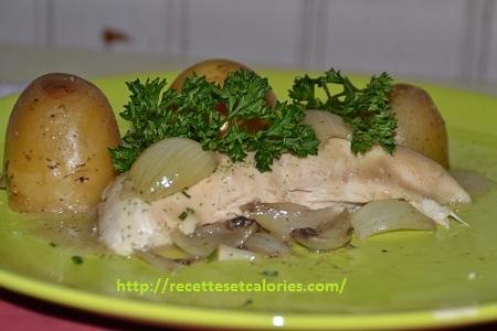 recette de pommes de terre et poulet citronné
