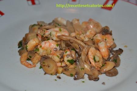 assiettes crevettes ail plancha